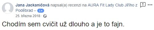 zkušenosti aurafit jzp Jana Jackaničová