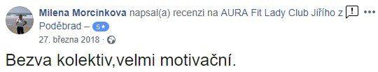 reference aurafit jzp Milena Morcinková