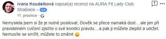 aurafit zkušenost str Ivana Koudelková